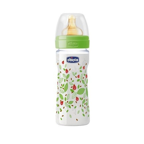 CHICCO BIBERON 250ML PP DECO1 TETTARELLA IN CAUCCIU'