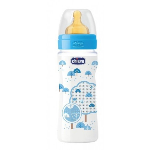 CHICCO BIBERON WELL BEING IN POLIPROPILENE BOY DA 330 ML FAST LATTICE ITA