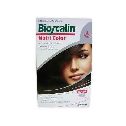 BIOSCALIN NUTRI COLOR 3 CASTANO SCURO SINCROB 124 ML