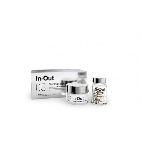 IN OUT 05 FIRMING NIGHT FORMULA TRATTAMENTO RASSODANTE COMBINATO ESTERNO INTERNO EMULSIONE 50 ML + INTEGRATORE ALIMENTARE 30 CAP