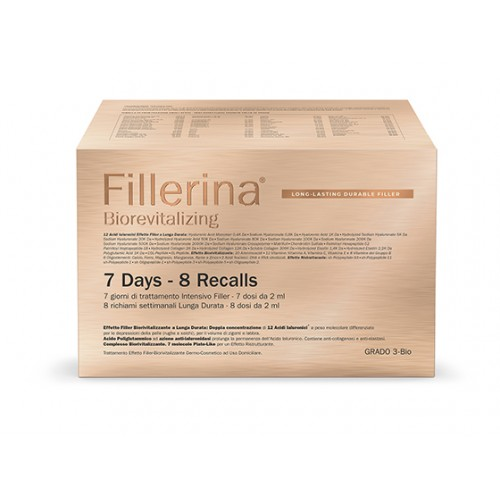 FILLERINA LONG LASTING DURABLE FILLER BIOREVITALIZING INTENSIVE FILLER GRADO 3+ PREFILLERINA