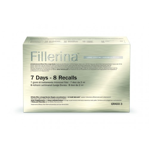 FILLERINA LONG LASTING DURABLE FILLER INTENSIVE GRADO 3 TRATTAMENTO 7 GIORNI - 8 RECALLS